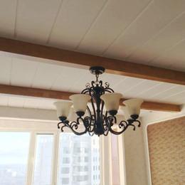 Wholesale D5 Led - Antique Iron Bedside Lamps Ceiling lights chandelier LED Pendant Lamps D5-05