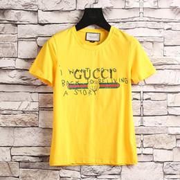 Wholesale Runway Women Fashion - Runway Fashion Letter Print Men Casual Cotton short sleeve t-shirt tshirt T Shirts Slim with tags M-2XL