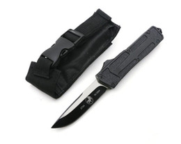 Wholesale Good Quality Survival Knives - Good quality Microtech Scarab Tanto Point Sand Blade Survival Knife Pocket Knife Tactical Knife Knives