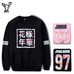 Wholesale L Idol - Wholesale- BTS Sweatshirt Women Korean Idol Team Fans Casual Capless Women Hoodies Pullover Sweatshirt Winter Fashion Bangtan Kpop Clothes