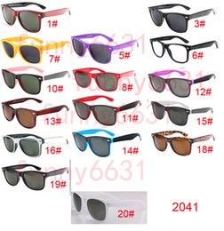 Wholesale Boy Children Sunglasses - summer Brand Designer Fashion for Men Sunglasses UV Protection Outdoor Sport Vintage Women Sun glasses Retro Eyewear 18colors free shipping