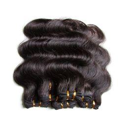 Wholesale Discount Hair Bundles - cheap 6a brazilian body wave human hair weaves bundles 10pieces 500g lot natural black color no shedding no tangles halloween discount