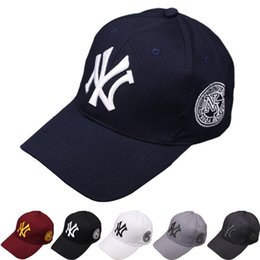 Wholesale Sunshade Caps - Foreign trade ny baseball cap cap embroidery letters couple outdoor leisure sports men and women sunshade cap