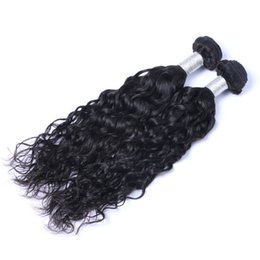 Wholesale Remy Water Wave Weave - Indian Virgin Human Hair Natural Water Wave Unprocessed Remy Hair Weaves Double Wefts 100g Bundle 2bundle lot Can be Dyed Bleached