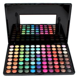 Wholesale Palette Eyeshadow 88 Shimmer - Wholesale- Professional 88 Colors Eyeshadow Palette With Mirror Portable Matte Eye Shadow Palette Sets Shimmer Cosmetic Makeup Eye Shadow