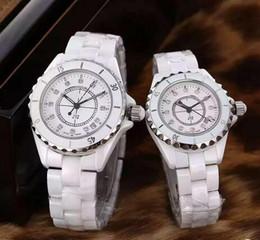 Wholesale Dive Lady Watch - Free shipping Luxury Swiss Brand fashion style womens dive watch white ceramic luxury lady watches japan quartz movement