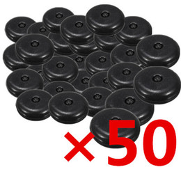 Wholesale Car Seat Belt Parts - 50pcs set Universal Clip Seat Belt Stopper Buckle Button Fastener Safety Black Car Part