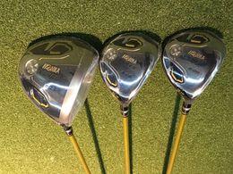 Wholesale Wood Head Putter - 3 Star Honma S-05 Full Set Honma Golf Clubs 3PCS Woods + Irons + Putter Regular Stiff Flex Graphite Shaft With Head Cover