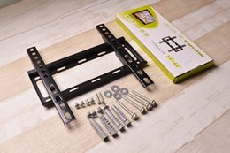Wholesale Wall Mount Lcd Tv Stand - Wholesale- Excellent Quality New Design Universal 75*75-200*200mm For 14-42inch LCD LED Fixed Wall TV Mount Bracket Stand Holder