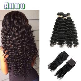 Wholesale Malaysian Hair Unprocess - 2017 ANNO Malaysian Virgin Hair Annabelle 6a Deep 4pcs Unprocess Weave Extensions Bohemian Human Hair