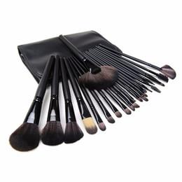 Top make-up pinsel gesetzt online-Top Qualität!!! Professionelle 24 stücke Make-Up Pinsel Set werkzeuge Make-Up Kulturbeutel Wolle Marke Make-Up Pinsel Set Fall Kosmetik pinsel