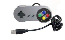 Wholesale Super Retro - New Retro Classic USB Controller PC Controllers Gamepad Joypad Joystick Replacement for Super Nintendo SF for SNES Windows MAC
