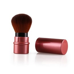 Wholesale Makeup Accessories Wholesale - Wholesale- Mini Retractable Make Up Tools Face Foundation Loose Powder Cosmetic Brush Makeup Accessories