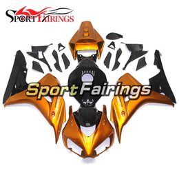 Wholesale Cover Honda Cbr - Motorcycle Complete Fairing Kits For Honda CBR1000RR 06 07 CBR 1000 RR 2006 2007 Injection ABS Plastic Bodywork Cowling Gold Black Cover