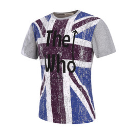 Wholesale England Flag Prints - New Fashion Men's T-Shirts England Flag Printed O-neck Short Sleeve Letters Printed T shirt Vintage Men Tops
