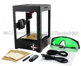 Wholesale Mini Laser Machine - Supercarver 500MW 1000mw Miniature Electric Laser Engraving Machine Alloy Laser Engraver Household DIY Mini USB Printer Equipment MYY
