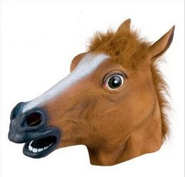 Wholesale Horsehead Masks - Christmas Horsehead Horsehead people headgear mask Halloween mask cosplay Props G606