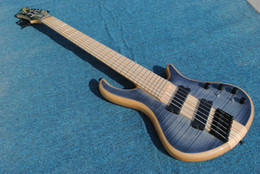 Wholesale Maple Bass - Mayones custom bass guitar 6 string mayones fanned frets electric bass guitar Maple fingerboard neck through body with free shipping