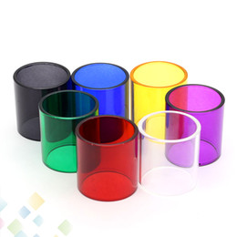 Wholesale E Cig Glass Atomizer - TFV8 Big BABY Glass Tube Pyrex Replacement Glass Sleeve Tube for 5ML SMOK TFV8 Big BABY Tank Atomizers E Cig DHL Free