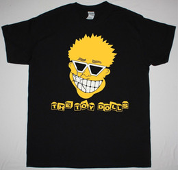 Wholesale Doll T Shirts - THE TOY DOLLS SMILEY FACE PUNK GBH SHAM69 UK SUBS THE ADICTS NEW BLACK T-SHIRT Fashion 100% Cotton T Shirt Fashion