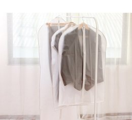 Wholesale Suit Dust Cover Bag - Wholesale Stock New Arrivals Translucent Clothing Dust Cover High Quality Cloth Garment Suit Dust Proof Cover Storage Bag Organizer Bag
