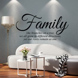Wholesale Tree Branches Wall Stickers - Personality Family Like Branches On A Tree Vinyl Wall Art Quote Words Vinyl Graphics Decals Sticker Bedroom Living Room Decorative Murals