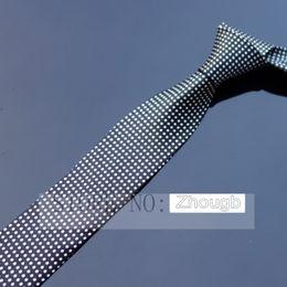 Wholesale Black White Dot Tie - Mans Hombre Skinny Cravatte Pajaritas Printed Male Narrow Tie Black White Musical tie 5cm for Business Wedding Holiday Polka Dots