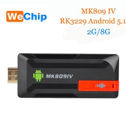 Wholesale Quad Core Android Stick - MK809 IV TV Stick RK3229 Quad-Core 2G+8G android 5.1 TF Card (Up to 32GB) Wifi 4K BT4.0 H.265 Full HD