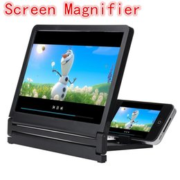 Wholesale Fold Mobile Phones - Newest Mobile Phone Screen Magnifier Eyes Protection Display 3D Video Screen Amplifier Folding Enlarged Expander Stand