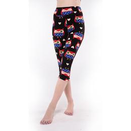 e3134d27830 Wholesale- Women Europe Style Fashionable Design Summer Slim High Waist  Leggings Floral Printed Capri Pants 4 Size Optional 2016 Hot Sale