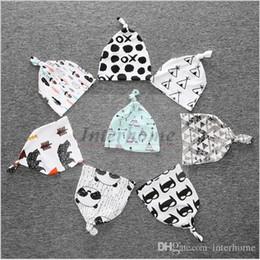 Wholesale Crochet Tiger Hat - Kids INS Purified Cotton Hats Fashion Cartoon Caps INS Batman Fox Beanies Panda Tiger Hats Printed Cross XO Tent Cap Baby Ins Caps B391 30