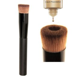 Wholesale Perfect Nylon - High quality Large Flat Professional Perfecting Face Brush Multipurpose Liquid Foundation Brush Premium Premium Face Makeup Brush DHL Free