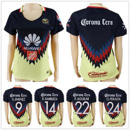 Wholesale club shirts women - Women Club America Soccer Jerseys 9 R.JIMENEZ 14 R.SAMBUEZA 22 P.AGUILAR 24 O.PERALTA Blank Home Customize Ladies Football Shirts
