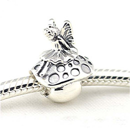 Wholesale Pandora Charms Fairy - Fits Pandora Bracelets Forest Fairy Silver Beads 100% 925 Sterling Silver Charms DIY Wholesale
