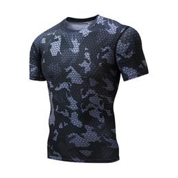 Wholesale Blast Shirt - wholesale Top t shirt 2017 new men blasting popcorn camouflage short-sleeved Slim casual jacket S-XXXL Free delivery