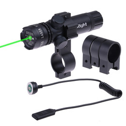 El alcance del rifle monta los carriles online-Caza táctica de larga distancia ajustable Green Dot Laser Sight Scope 20mm Rail Picatinny Mount Gun Rifle