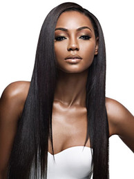 Wholesale Indian Yaki Remy Hair - Brazilian Light Yaki Lace Front Human Hair Wigs For Black Women 120% Density Yaki Straight Full Lace Human Hair Wigs Indian Hair