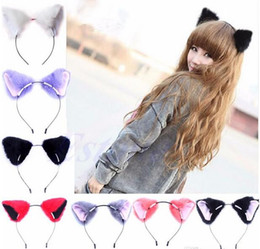 2019 niedliche anime cosplay kostüme 2017 Haar Zubehör Mädchen Nette Katze Fox Ohr Lange Fell Haar Stirnband Anime Cosplay Party Kostüm G347 günstig niedliche anime cosplay kostüme
