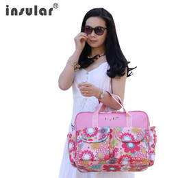 ребенок мама подгузник мешок Скидка Wholesale- waterproof designer baby ravel mama mummy mother stroller diaper bag set tote nappy bags backpack organizer for mom
