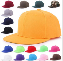 Wholesale Dance Team Wholesale - Fashion Snapback Hats Retro Solid Blank Baseball Cap Unisex Hip-hop Dancing Cap Outdoor Sports Team Hat