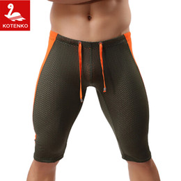 Wholesale Boxer Person - Wholesale-BRAVE-PERSON Brand Man Casual Short Bottoms Skinny Calf-Length Jogger GASP Fitness Workout Men Cargos Sweatpants Boxers Trunks