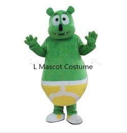 Wholesale Green Bear Costumes - New Arrival Green Gummy Bear Mascot Costume Fancy Dress Free Shipping