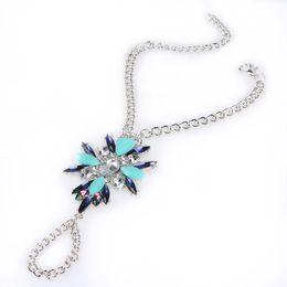 Wholesale Luxury Boho Fashion - Luxury Bohemian Colorful Crystal Bracelets Anklets Jewelry Fashion Women Summer Sexy Charm Boho Bangles Bracelets