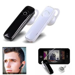 Wholesale Android Phone Zte - M165 Bluetooth Headset Wireless With Mic Stereo Sport Earbuds Earphone Handsfree For Cellphone Android iPhone HUAWEI ZTE Retail Package
