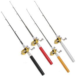 Wholesale Heavy Fishing Reel - Mini Portable Pocket Fish Pen Aluminum Alloy Fishing Rod Pole Reel