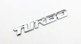 Wholesale Metal Letter Sticker 3d - Silver 3D TURBO word letter sport sticker auto car metal chrome logo emblem badge decals for Honda Acura RDX Fender Trunk Badge