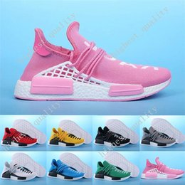 Wholesale Chinese Denim Brands - 2017 Hot Wine-red Human race Chinese Word nmd mens Running Shoes for men sports NMD HUMANRACE Couple Top Brand Shoes NMD Runner Eur 36-45