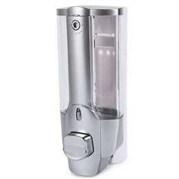 Wholesale Dispensers For Soap - Wholesale- 350ml High Quality Wall Mount Shower Bath Hand Soap Shampoo Dispenser with a Lock for Bathroom Washroom Accessories