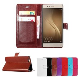 Wholesale Iphone S Case Wallet - Wallet PU Leather Case with Card Slot Cover for iPhone 7 6s 6 plus 5 5s S Huawei p8 p9 lite Opp Bag