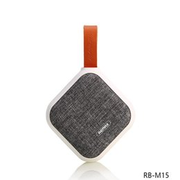 REMAX RB-M15 Fabric Wireless Bluetooth Speaker variety of colors Smart Portable Bluetooth NFC SPEAKER for gift environmental protection desde fabricantes